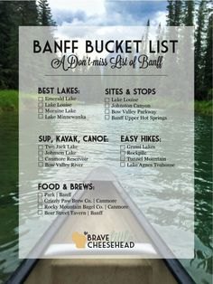 The Best of Banff, Banff Bucket List The Brave Little Cheesehead at bravelittlecheese. Voyage Usa, Voyage Canada, Vancouver British Columbia, Oh The Places You'll Go, Places To Travel, Travel Destinations, Travel List, Travel Goals, Tour Du Canada