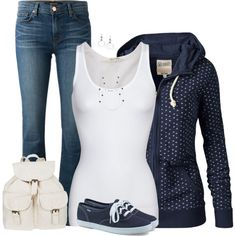 Hoodie & Sneakers, created by cnh92 on Polyvore