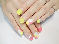yellow and pink.