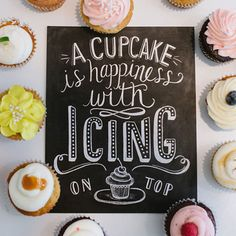 A Cupcake Is Happiness - Print