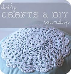 VERY SHANNON: doily crafts & diy roundup