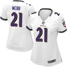 Nike NFL Baltimore Ravens 21 Lardarius Webb Limited Women White Road Jersey  Sale