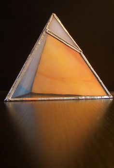 B. Tetrahedron Platonic Solid Stained Glass Sculpture