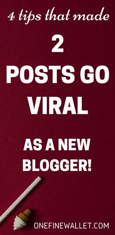 2 of my pins went viral on pinterest in my first month blogging. Here are quick tips on how you can do it too! #viralpins #pinteresttips #pintereststrategies #bloggingforbeginners
