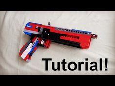 Lego Full-Auto Blowback Pistol Tutorial/Instruction - YouTube Lego Guns, Tactical Pistol, Lego Craft, Cool Lego Creations, Lego Projects, Lego Moc, Marvel Funny, Cloud 9, Lego Ideas