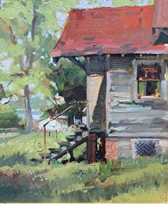 """Weathered"" by Jane Chapin Oil ~ 10 x 8"