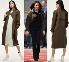 Meghan wore the Babaton for Artizia Lawson Trench Coat