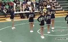 The extra backflip girl. 19 Cheerleaders Who May Not Make The Team Next Year Funny Cute, Really Funny, Hilarious, Funny Stuff, Funny Things, Gymnastics Fails, Gymnastics Videos, Cheer Fails, Jokes