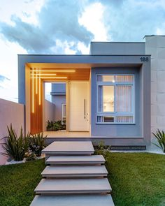 These Are the Interior Color Trends in 2033 House Outside Design, House Front Design, Small House Design, Dream Home Design, Future House, My House, Minimal House Design, Home Building Design, American Houses