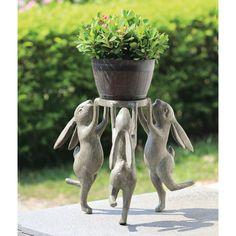 Outdoor Garden Statues, Outdoor Gardens, Garden Whimsy, Garden Art, Flower Bowl, Plastic Flowers, Bright Flowers, Plant Holders, Indoor Plants