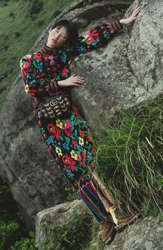 af644175af4 Fashion shoot  channelling the Native American spirit Tribal themes return  for autumn-winter 2017