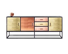 Superb Sideboard Reykjavik Brass bronze copper sideboard Luxury furniture Bespoke furniture