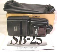 Nikon SB-25 Speedlight Shoe Mount Flash Orig. Box/Instr./Case Exc.++ Cond. LQQK #Nikon