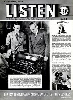 Radio Corporation of America (RCA) ad featuring Walt Disney and Ferdinand the Bull (Life magazine, 1938-09-05)