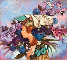 Merab Gagiladze - Good News Good News, Princess Zelda, Artist, Painting, Fictional Characters, Artists, Painting Art, Paintings, Fantasy Characters