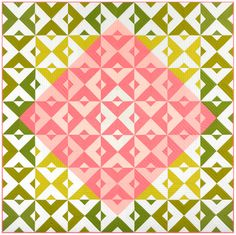 Diamond Tiles designed by Robert Kaufman Fabrics. Features the 2017 Kona Color of the Year. FREE pattern will be available for download in January 2017 from robertkaufman.com #FREEatrobertkaufmandotcom #konacotton #konacoty