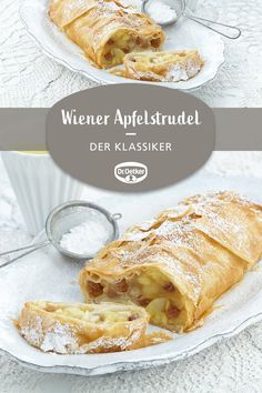 Wiener Apfelstrudel Viennese Apple Strudel: A classic with apples and raisins, with a greeting from Austria a cake Recipes Appetizers And Snacks, Finger Food Appetizers, Easy Appetizer Recipes, Easy Dinner Recipes, Easy Meals, Healthy Italian Recipes, Italian Pasta Recipes, Chicken Pasta Recipes, Apfelstrudel Recipe