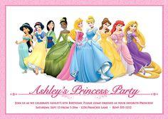 Disney Princess Invitation for Birthday Party  by PixelParade, $9.99
