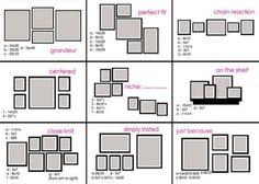 Photo arrangement design decorating design room design home design