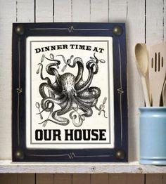 Big Family Dinner Octopus Print | Art Prints | DexMex | Scoutmob Shoppe | Product Detail