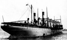 The USS Cyclops was a United States collier ship that was commissioned during World War I. She was launched on May 7, 1910 and was commissioned on May 1, 1917. Lieutenant Commander G.W. Worly was placed i