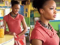 #22 Cable Collar Top, Vogue Knitting Spring.Summer 2011