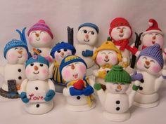 Vrolijke sneeuwmannen fondant / happy snowmen www.hierishetfeest.com