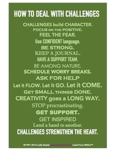 How to deal with challenges