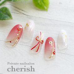 Pin on beauty: nails Asian Nail Art, Asian Nails, Korean Nail Art, Gel Designs, Pretty Nail Designs, Nail Art Designs, New Year's Nails, Diy Nails, Manicure