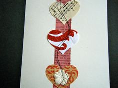 upcycled paper Blank card by HeidiKindFinds