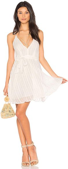 74a2231b614 Low Neck Strappy Dress in White at REVOLVE. Surviving The Mom Life · Summer  Fashion