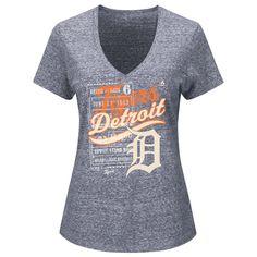 Detroit Tigers Majestic Women's V-Neck Terrorizing Play T-Shirt - Navy - $21.99