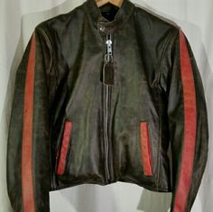 "Vanson leather motorcycle comet jacket New Vanson cafe racer motorcycle jacket. Made in the USA. 19 1/2"" across the chest, 21"" neck to tail, sleeve length 23"". Vanson Jackets & Coats"
