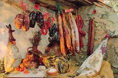 Embutidos y jamones Andalusia, Chorizo, Barbecue, Spain, Cold Cuts, Barrel Smoker, Sevilla Spain, Bbq, Barbacoa