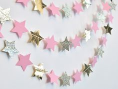 Baby Showers Twinkle Baby Showers Twinkle Pink and Gold Twinkle Twinkle Little S. - Baby Showers Twinkle Baby Showers Twinkle Pink and Gold Twinkle Twinkle Little Star, Paper Garland, - First Birthday Parties, Birthday Party Decorations, Baby Shower Decorations, First Birthdays, Party Favors, Pink Decorations, Paper Party Decorations, Birthday Garland, Theme Parties