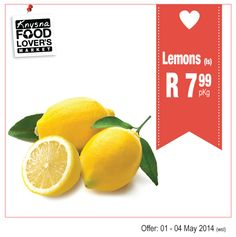 Some more great Specials. Pepsi 1.5lt - 2 for R20. Lemons - l/s R7.99 pKg. Baby potatoes 1kg - 3 for R20. Red Sweet potatoes - R6.99 pKg. Avo's 2 for R10. All for the love of good food! Food Lover's Market Knysna, Waterfront Drive, Tel: 044 382 2202. #FoodLoversMarket #Specials #Lemons