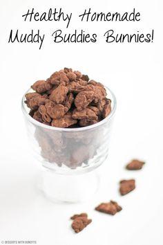 Healthy Chocolate Muddy Buddies Bunnies recipe - Healthy Dessert Recipes at Desserts with Benefits