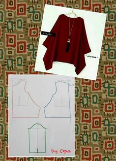 V neck tunic blouse pattern order by line with @ dresspattern modellistepattern poladress jualpola jasapola polaonline jasapolaonline polaonlineshop polabaju jualpoladress jasapembuatanpola poladress polacelana polatunik polabajutunik tunicblouV neck Dress Sewing Patterns, Blouse Patterns, Clothing Patterns, Blouse Designs, Fashion Sewing, Diy Fashion, Cheap Fashion, Costura Fashion, Sewing Blouses