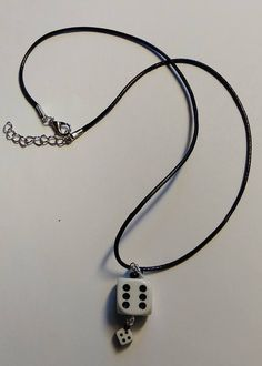 Excited to share the latest addition to my #etsy shop: Dice Necklace size 15mm Rockabilly Rockenroll 50's https://etsy.me/2rrsXtp
