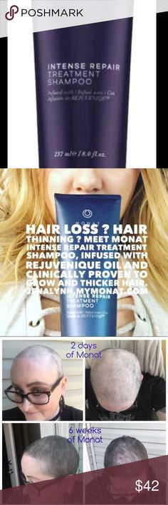MONAT Intense Treatment Repair Shampoo Price is firm. New full size. Truly a miracle Shampoo that brings life and growth to even the most damaged hair. Promotes collagen and slows hair loss. Anti-aging and naturally based. #monatforsale Monat Makeup