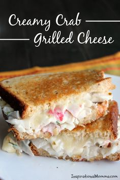 This Creamy Crab Grilled Cheese is simple and filled with flavors that will satisfy you! Creamy crab sandwiched between crispy, golden brown bread. Yum!