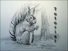 Drawing a furry SQUIRREL In Pencil and Ink, easy tutorial – Hildur.K.O