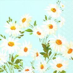 1294 AZ Servilleta decorada flores