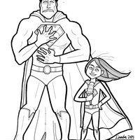 Desenho De Superman E Sua Filha Para Colorir Desenhos De