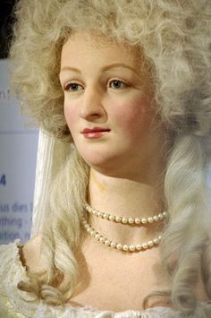Wax figure of Marie Antoinette at Madame Tussaud's in London.