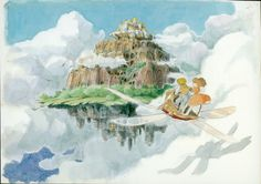 Studio Ghibli is a Japanese animation film studio founded in June 1985 by the directors **Hayao Miyazaki** and **Isao Takahata** and the producer. Hayao Miyazaki, Totoro, Storyboard, Studio Ghibli Films, Sky Digital, Castle Painting, Sea Illustration, Castle In The Sky, Howls Moving Castle