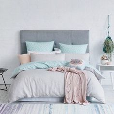 This is a Bedroom Interior Design Ideas. House is a private bedroom and is usually hidden from our guests. However, it is important to her, not only for comfort but also style. Much of our bedroom … Dream Bedroom, Home Bedroom, Girls Bedroom, Grown Up Bedroom, Pretty Bedroom, Pastel Bedroom, Bedroom Turquoise, Aqua Bedroom Decor, Bedroom Colours