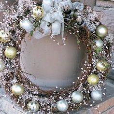 Shiny Seasons Greetings Wreath by Season of Joy