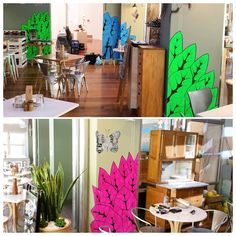 I spent today bringing the garden into Hazelhurst Cafe and I named the butterfly above the pink leaves Bronwyn the Butterfly after my mum. Go mum. Via facebook.com/mulgatheartist