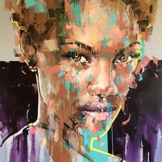 Jimmy Law - Expressive Artist from Cape Town Jimmy Law, Art Alevel, South African Artists, Black Artwork, Black Girl Art, Expressive Art, Cool Paintings, Texture Painting, Portrait Art
